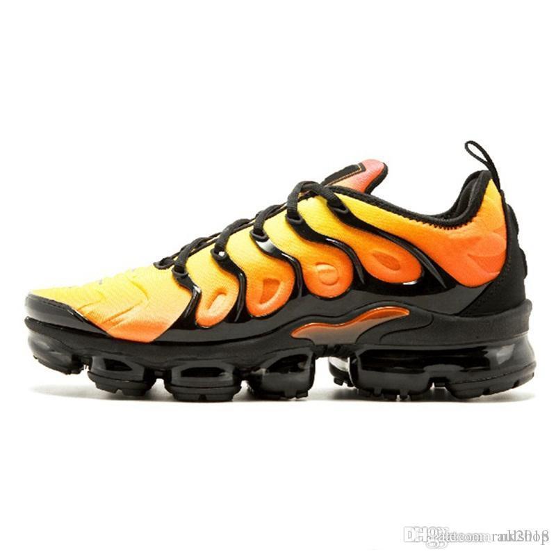 reputable site cf416 33724 Compre Nike Air Max NIKE Con Caja New 2018 TN Plus Hombre Mujer Zapatillas Para  Hombre Zapato Blanco Plata Negro Colorways Paquete Triple Negro Para Hombre  ...