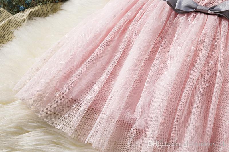 Кружева цветы девушки одеваются лето лук одежда детская вечеринка/свадьба пачка Детские без рукавов одежда, r1aa802ds-08, [ElevenStory_dh]