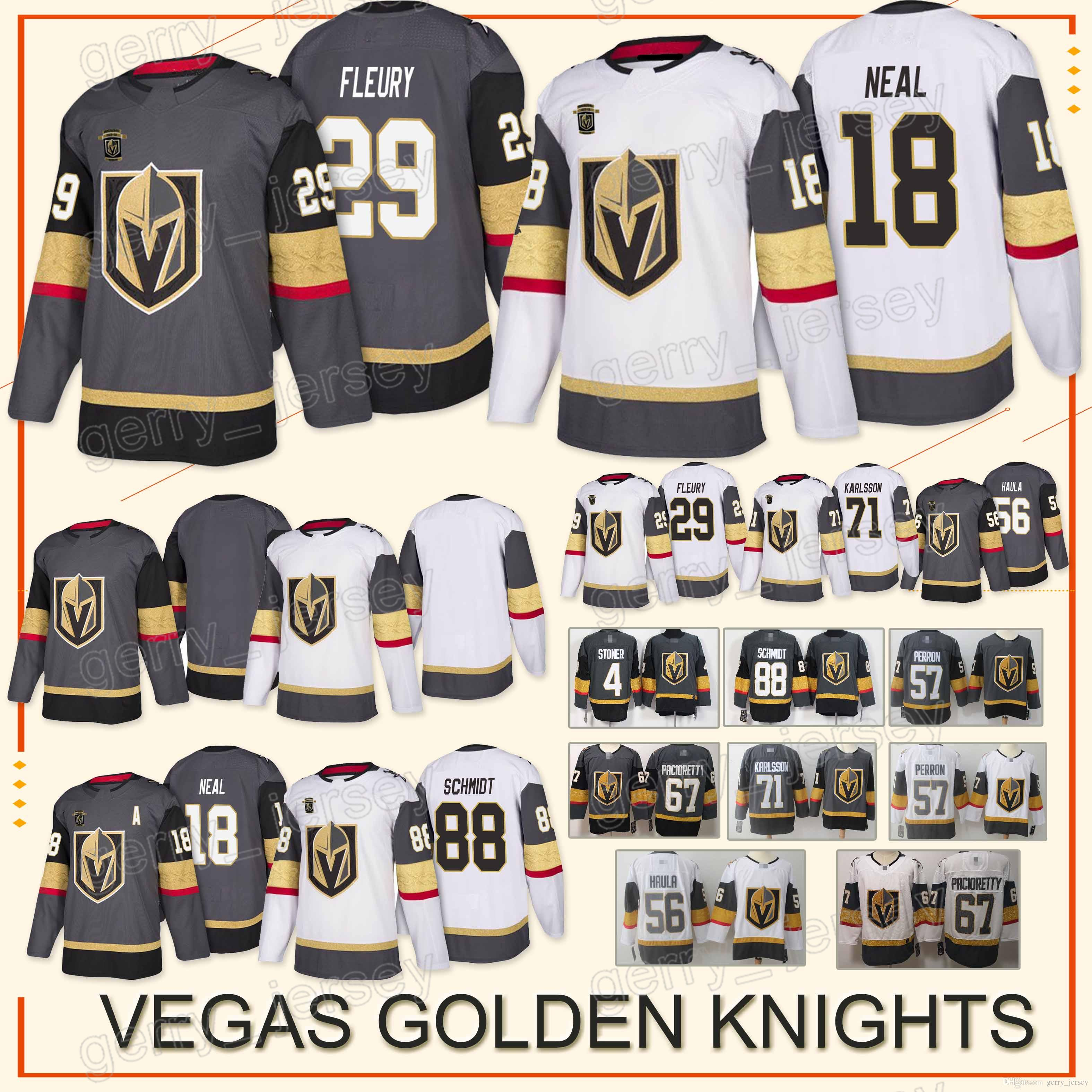 Vegas Golden Knights Jersey 29 Marc-Andre Fleury 18 James Neal 88 ... 16c403351
