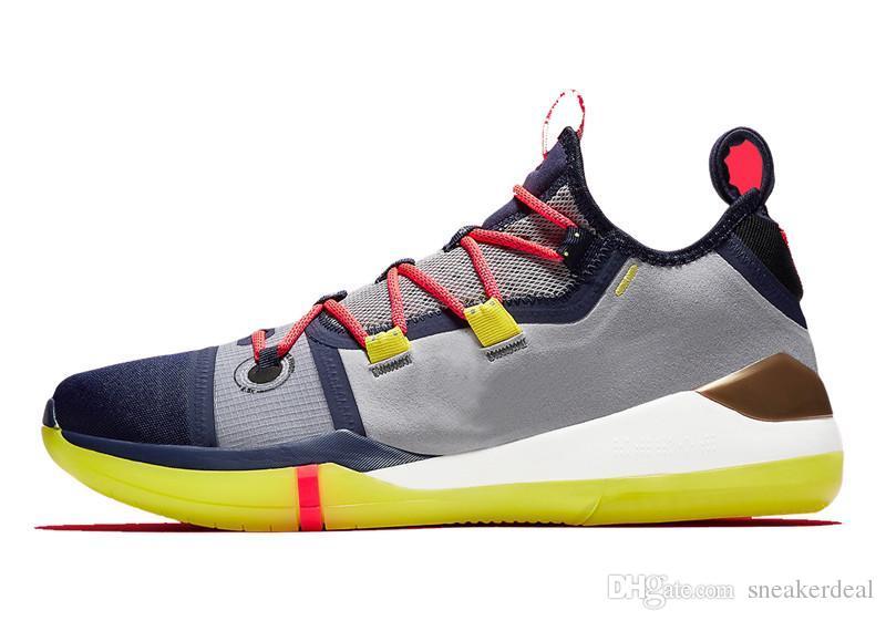 Kobe Exodus Purple Mamba Day EP Sail Wolf Gris Naranja Multicolor Zapatillas de baloncesto Bryant Sneakers Tamaño 7-12 con caja