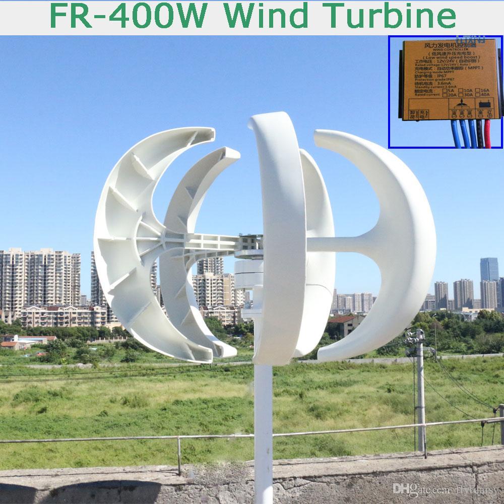20b4bc51ac4 Compre Venda Quente 400 W 12 V   24 V Gerador De Turbina Eólica Vertical  Com Maglev Gerador E Controlador De Carga MPPT De Flytdaisy