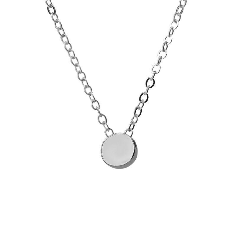 Fashion accessories, fashion, circular necklace, minimalist creative pendant, sweater chain, short style.