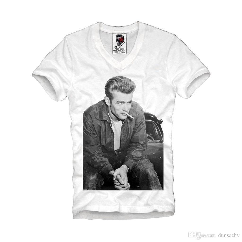 2d9662716 E1SYNDICATE V NECK T SHIRT JAMES DEAN REBEL BOY ELVEN ELVIS TISA 238v  Ridiculous T Shirt Best T Shirts Sites From Dunsechy, $11.48| DHgate.Com