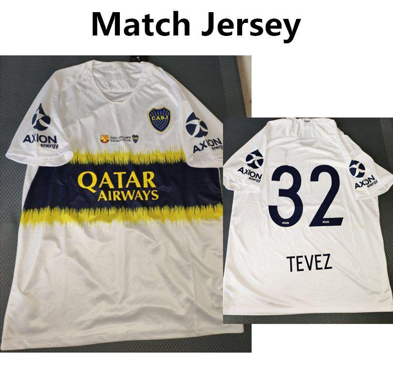 Match Jersey Boca Junior VS Camiseta De Fútbol MESSI   32 TEVEZ Football  Shirt Versión Alejada Calidad Superior Por Rong0920 7b5b053fb03d2