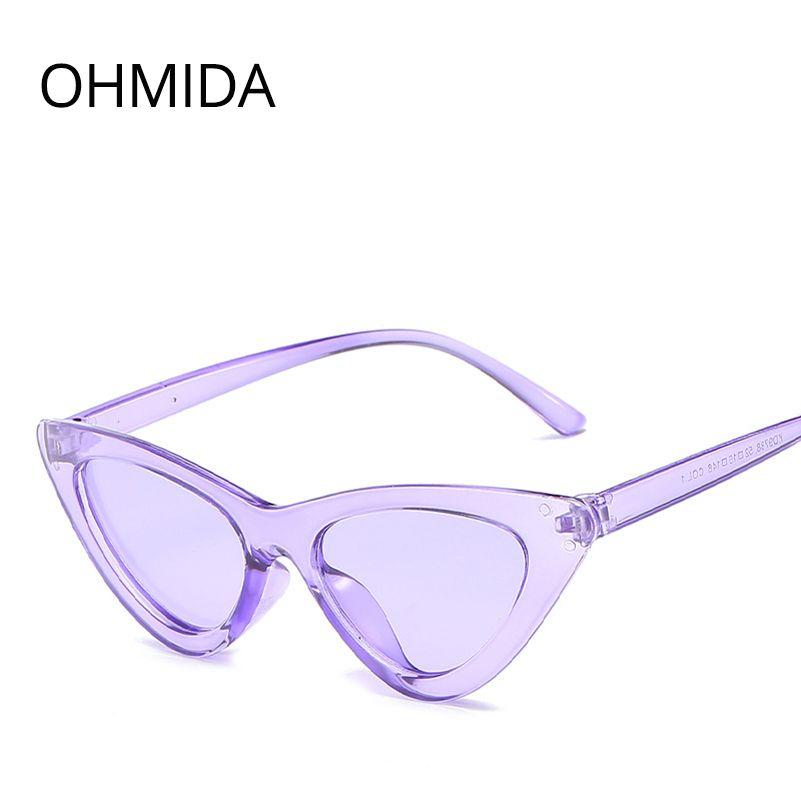 831f6f7ecf Compre OHMIDA Moda Barato Cat Eye Sunglasses Mujeres 2018 Púrpura Espejado  Sun Glasses Para Mujer Retro Vintage Oculos De Sol Feminino A $21.14 Del ...