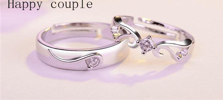 Europa und Amerika Mode Luxus-Liebhaber Ring Paare Ringe für Geliebte / pair Männer und Frauen Engagement Ehering bestes Geschenk für Freund