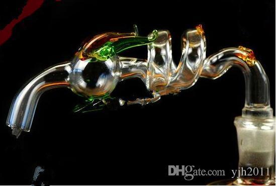accessori narghilè 2 Giri lungo tavolo di vetro all'ingrosso bong Tubi Oil Burner vetro Tubi di acqua Oil Rigs fumatori