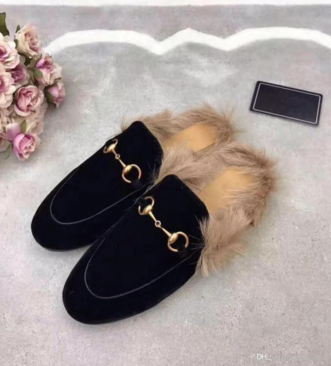 1f6cc66f12750 Women Sandals Designer Shoes Luxury Slide Heel Slippery With Thick ...