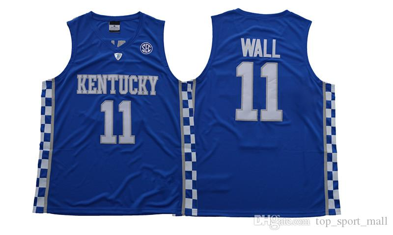Kentucky Wildcats Jersey Koleji Basketbol Devin Booker John Wall Anthony Davis Karl-Anthony Towns DeMarcus Cousins Malik Monk Fox Mavi Erkekler