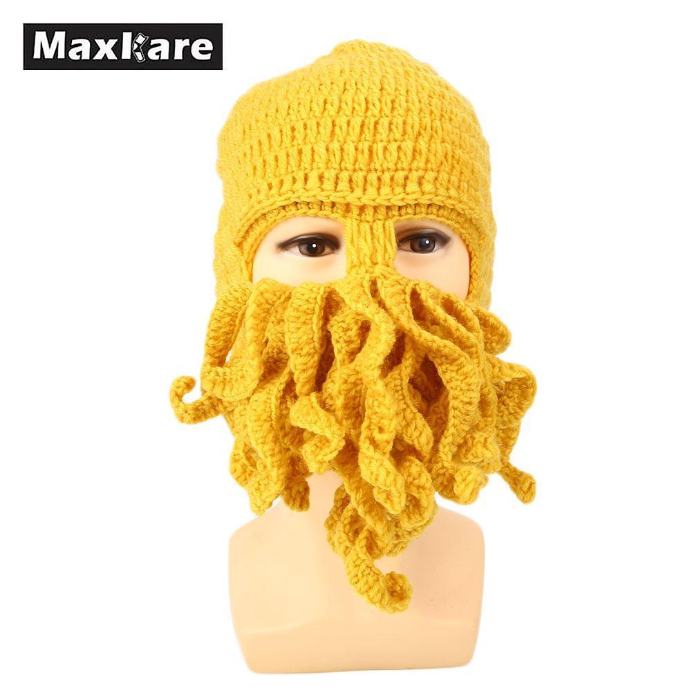 f197edccf64 2019 Comfortable Octopus Ski Cap Hat Beanies Ski Mask Funny Winter Accessory  From Miaoshakuai