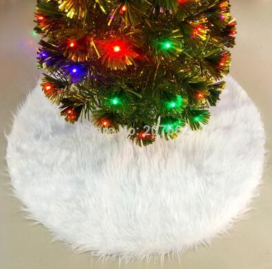 Christmas Tree Skirts White Faux Fur Xmas Tree Decoration Merry