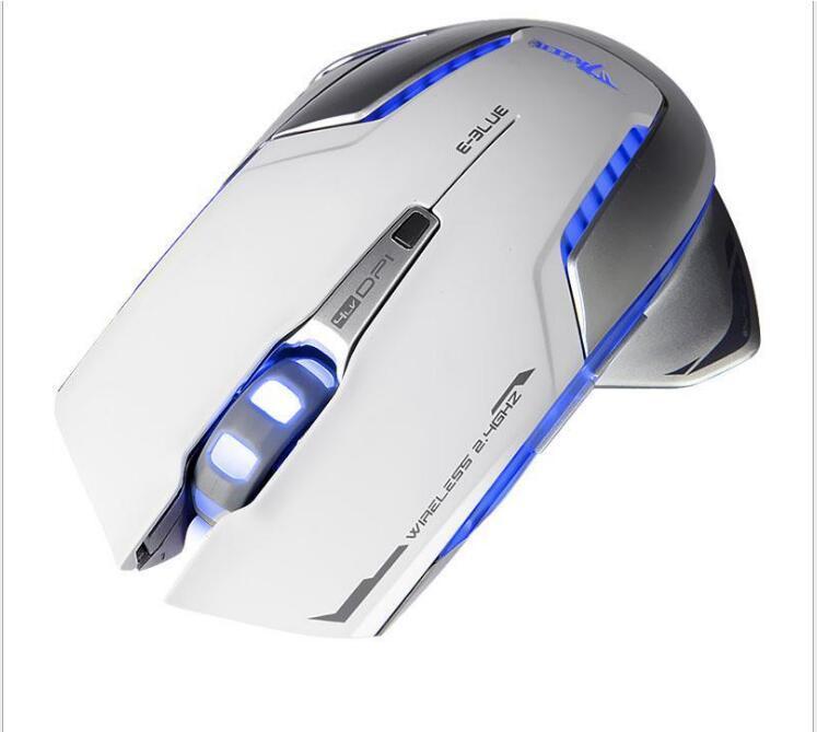 E-3LUE EMS601 Gaming Souris 2.4GHZ 2500DPI Souris Sans Fil Bleu LED Deux couleurs Noir et Blanc Souris pour Dota Gamer