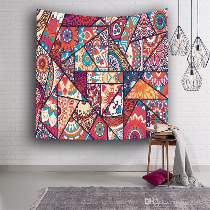 Стены гобелен 3D печатных богемной Индийский гобелен стены ковер дома висит гобелены полиэстер пикник лист скатерть