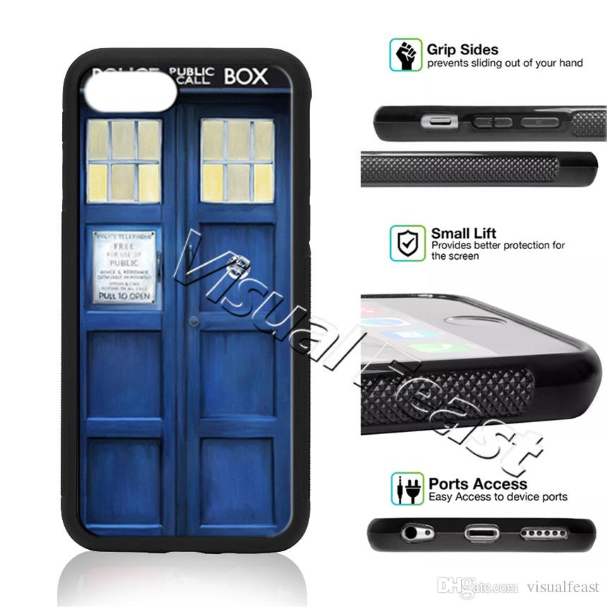 Fitted Cases Phone Case Tardis Box Doctor Who For Samsung Galaxy S7 Edge S8 S9 Plus Cover Tpu Fine Quality
