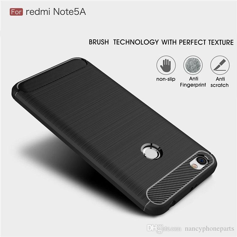 Xiaomi redmi Not İÇİN 7 8 PRO Kılıf Yumuşak Arka Kapak İçin redmi 5A Prime Darbeye Telefon Kılıfları Karbon Elyaf TPU Not