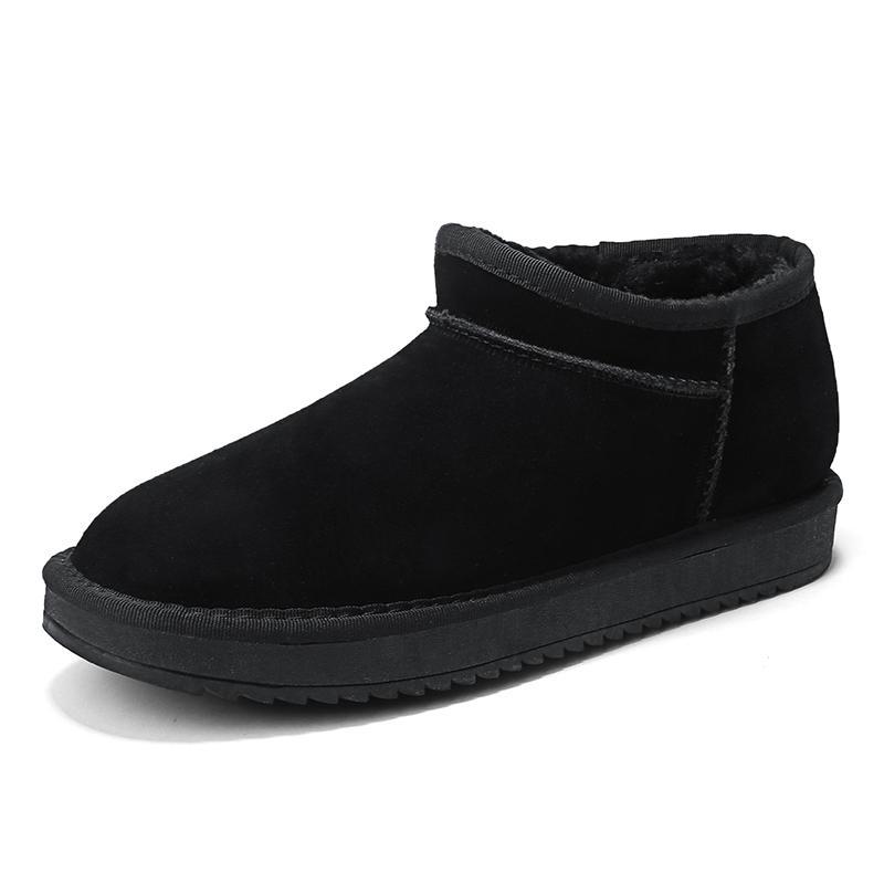3b42f7efe6e Compre 2018 Nuevo Estilo Hombres Botas De Nieve Otoño Invierno Hombres  Calidad Casual Zapatos Planos Cómodo Marrón Gris Hombre Moda Botines A   40.25 Del ...