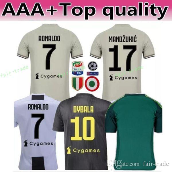35e3b50f7aa 2018 2019 Serie A Juventus RONALDO Jersey 7 Soccer Men White 17 ...