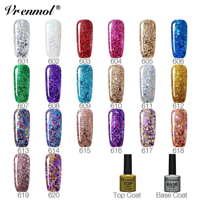 Vrenmol Gel Polish Hybrid Diamond Glitter Gel Nail Polish Uv Nail ...