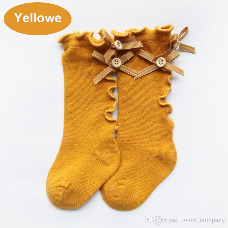Bambini Leggings Primavera ed estate arco di legno fungo calze bambini calzini bambini in cotone lungo tubo ragazze calze di pizzo