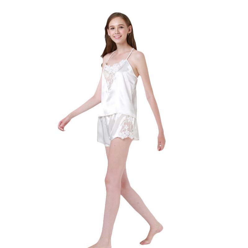 2019 New Hot Sexy Pajama Sets Lace Satin Top And Shorts Pajama Set Women  Sleeping Wear Summer Sleeveless From Baiyulanflo 3a14ff1c6