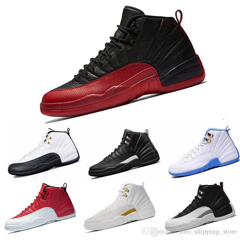 8db5a015b8f 2018 12 12s XII Taxi French Blue Flu Game Playoffs Basketball Shoes Mens  Varsity Red Sneakers Athletic Shoes Basketball Shoes 12 Shoes Sneaker Shoes  Online ...