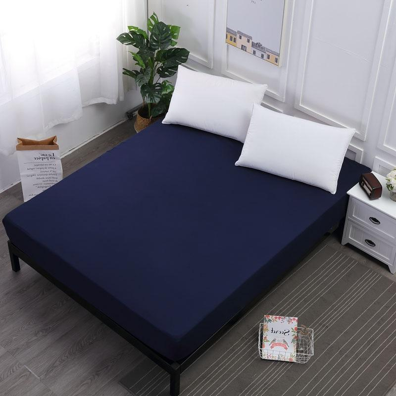 decorative mattress cover twin mattress solid color waterproof fitted sheet breathable mattress cover protector for bed wetting home decorative covers grippers cheap