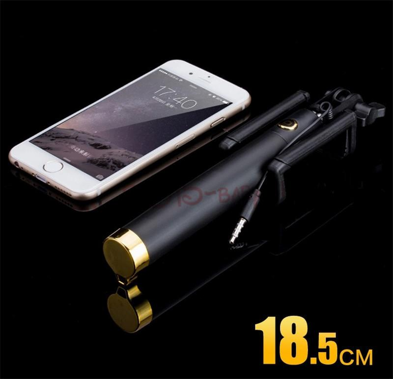 Selfy Handheld Wired Monopod Portrait Taker and Video Recorder UNIVERSAL FIT with ios and Android Smartphones