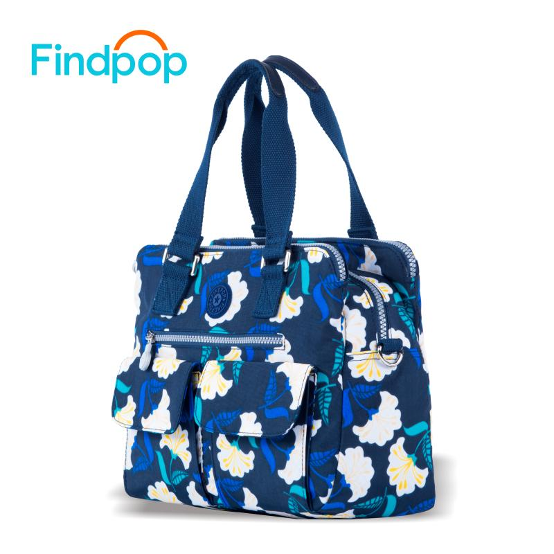 f035fc77e6fc Findpop Flowers Printing Handbags Women 2018 New Fashion Totes For Women  Crossbody Bag Large Capacity Waterproof Nylon Tote Bags Wholesale Purses  White ...