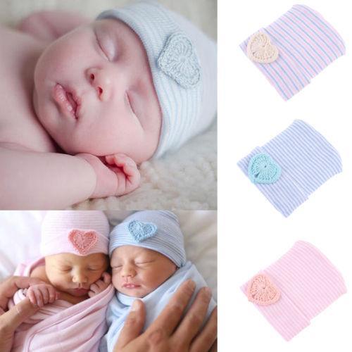 37ad95a73 Compre Lindo Bebé Recién Nacido Niño Pequeño Niño Sombreros Bowknot  Hospital Gorro Gorro Rayado Bebés Niños Niñas A  33.19 Del Bradle