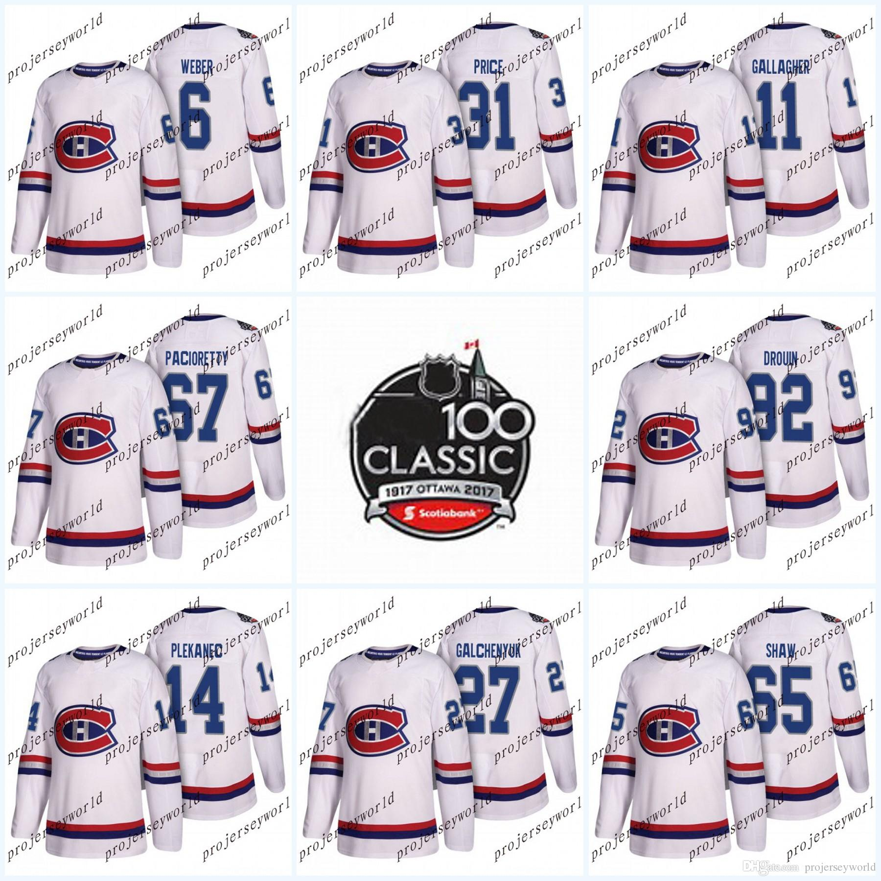 75c0666d4 Youth 100th Classic Patch 92 Jonathan Drouin Montreal Canadiens Jerseys 31  Carey Price 6 Shea Weber 11 Brendan Gallagher Ice Hockey Jerseys 100th  Classic ...