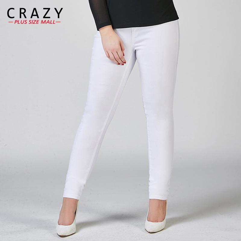 1bef925442 2019 New Plus Size Fat 40 100kg Women Summer Skinny Denim Jeans For ...