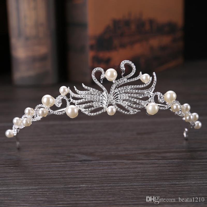 Ozdoby Do Hair Flower Princess Tiaras 2018 tocados de novia de la boda accesorios para el cabello para mujeres Accessori Capelli estilo europeo