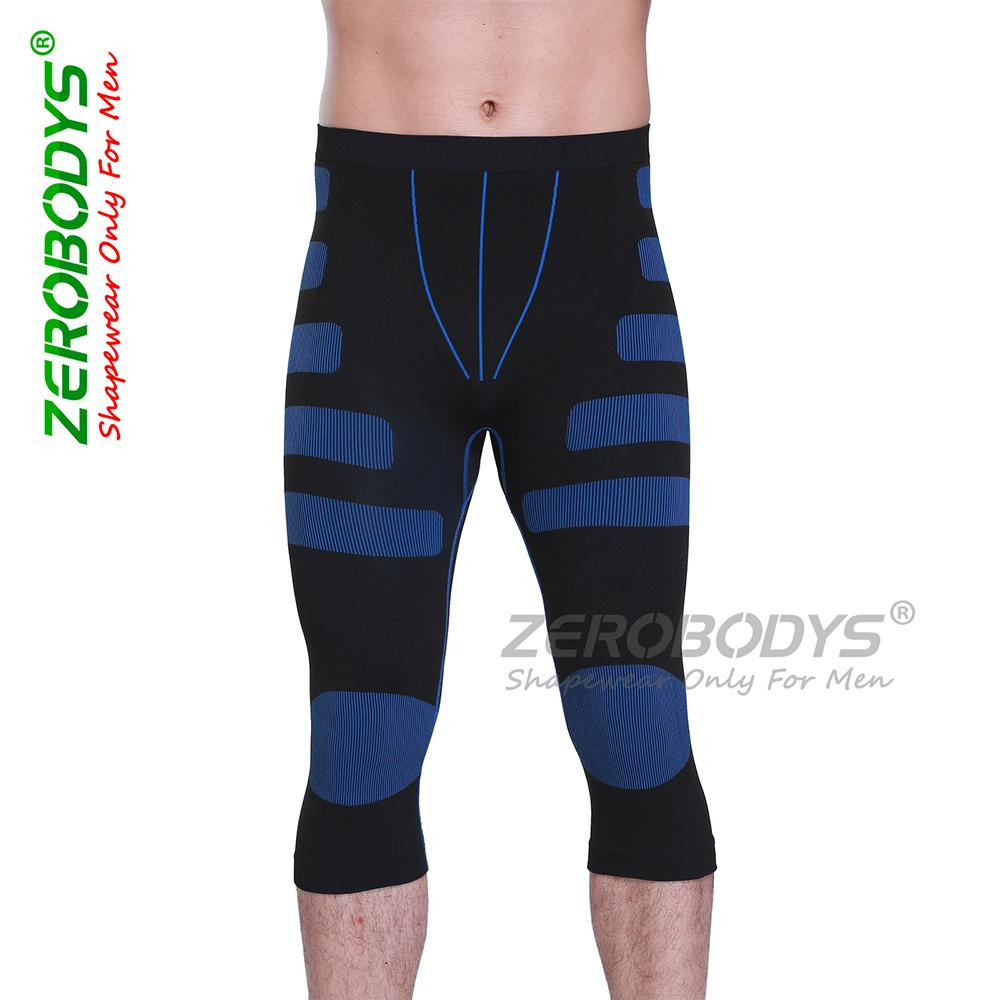 5805902602ab9 Wholesale Men Compression Legging Tights Body Shaper Quick Drying Cropped  Trousers Elastic Breathable Kneelet Shapewear Online with  46.93 Piece on  ...
