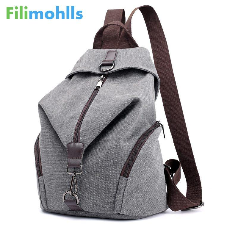 fb1525b0a69b Vintage Canvas Women Backpacks Fashion Travel Backpack For Teenager Girls  Student School Bag Casual Rucksack Female Bags S1704 Mens Backpacks Swiss  Army ...