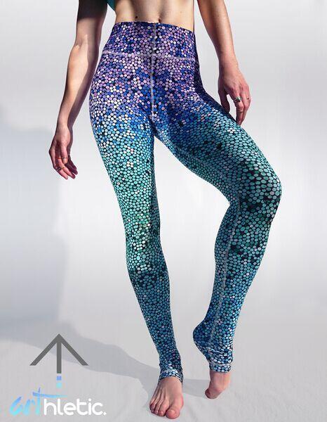Leggings Pottis Femmes Poisson Echelle Impression De Mode Mince Pantalon De Yoga De Sport Fitness Legging Maigre Jegging Pantalon