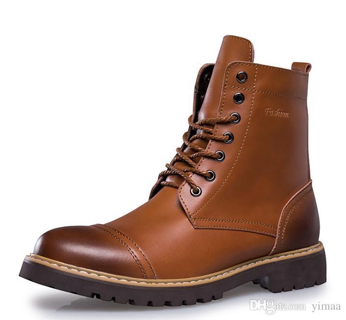 37c4a656 Compre Buena Calidad Zapatos De Cuero Para Hombres Y Mujeres Botas High Top Martin  Motocicleta Otoño Invierno Zapatos Amantes De La Nieve Botas A $40.21 Del  ...
