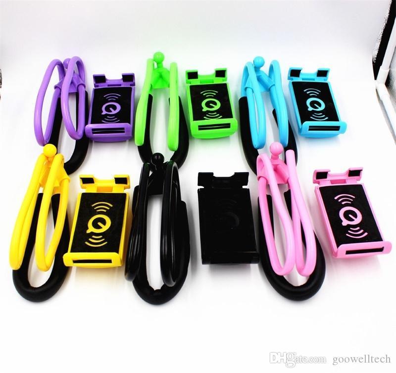 2018 Lazy Hanging Neck Phone Stands Holder Necklace Cellphone Support Bracket for Samsung Universal Holder for iPhone for Tablet