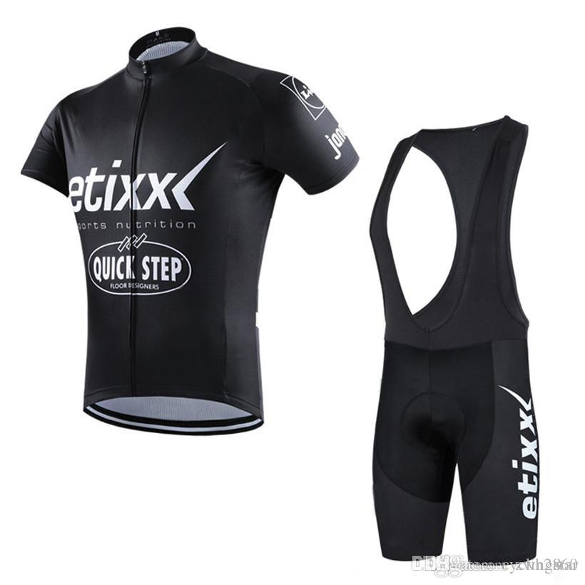 New Team Etixx Quick Step Cycling Jerseys Bike Clothes Short Sleeves Suit  Bicycle Maillot Summer Tour De France Cycling Clothing C2209 Etixx Cycling  Jerseys ... 5accf3320