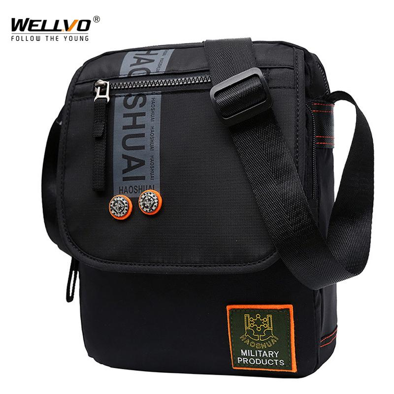 3e5cfb2966 Fashion Men S Canvas Messenger Bag Waterproof Male Belt Pack Nylon Zipper  Crossbody Shoulder Bag Phone Earphone Storage XA81ZC Cheap Designer  Handbags Black ...
