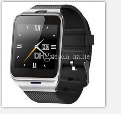 GV18 1.5 inch NFC Smart Watch With touch Screen 1.3MCamera Bluetooth SIM GSM Phone Call Waterproof for Android Phone DZ09 R-BS DHL