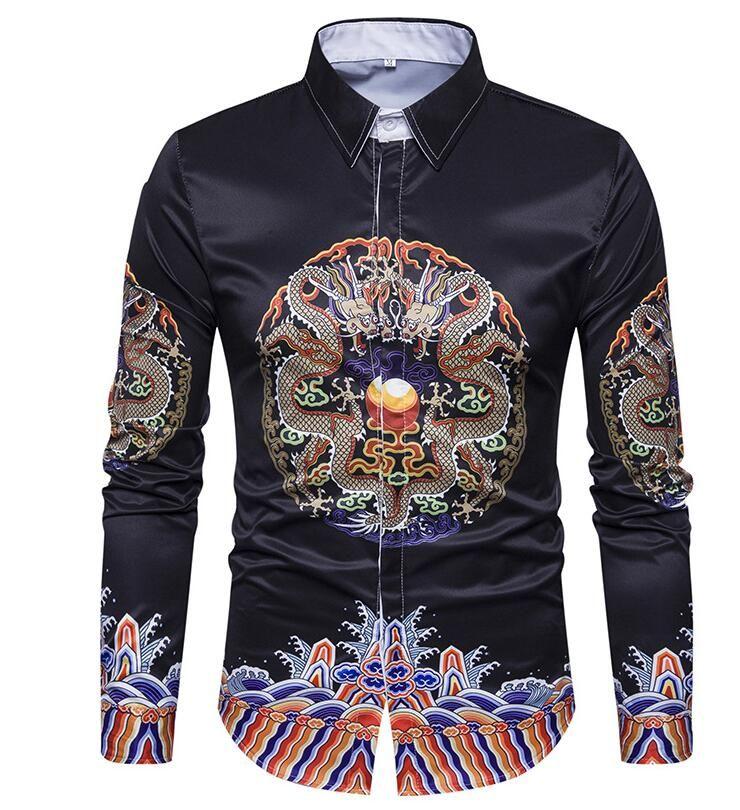 4ff6c5d6e33d 2018 New Spring Cotton Shirts Men High Quality Long Sleeve Slim Fit ...