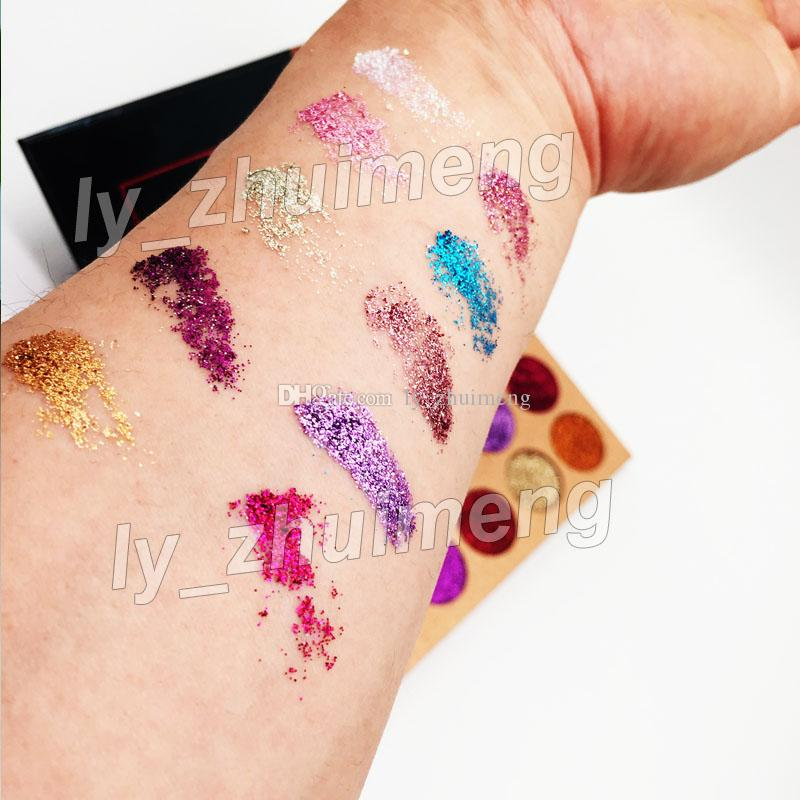 2018 Brand sequined eye shadow palette Beauty Glazed glitter Eyeshadow Palette Unicorn Makeup Eye Shadow Palette DHL