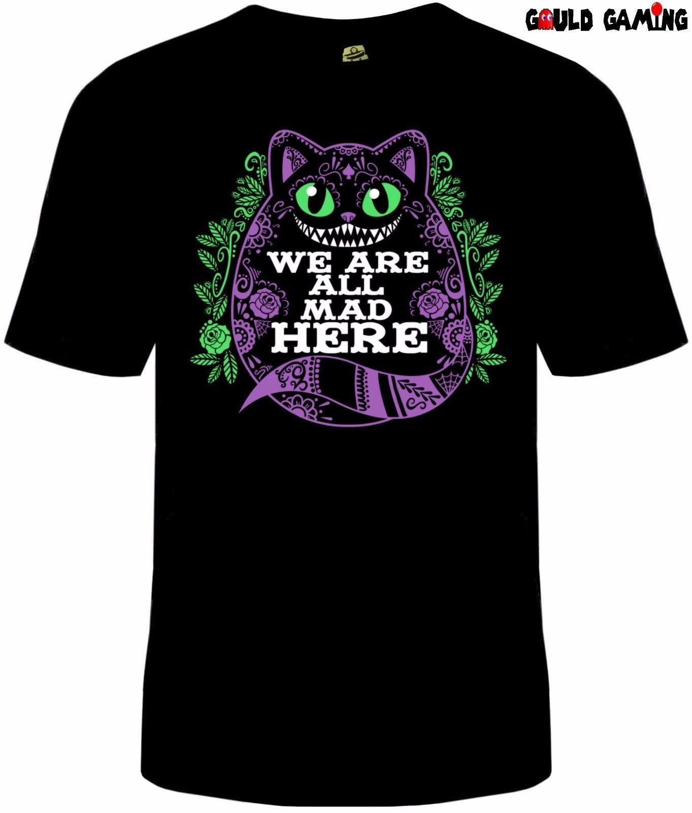 ae763393 Cheshire Cat T Shirt Unisex Funny Alice In Wonderland Halloween Adult 234XL  F294 Funky T Shirts Cool T Shirt From Robotrave21, $11.17| DHgate.Com
