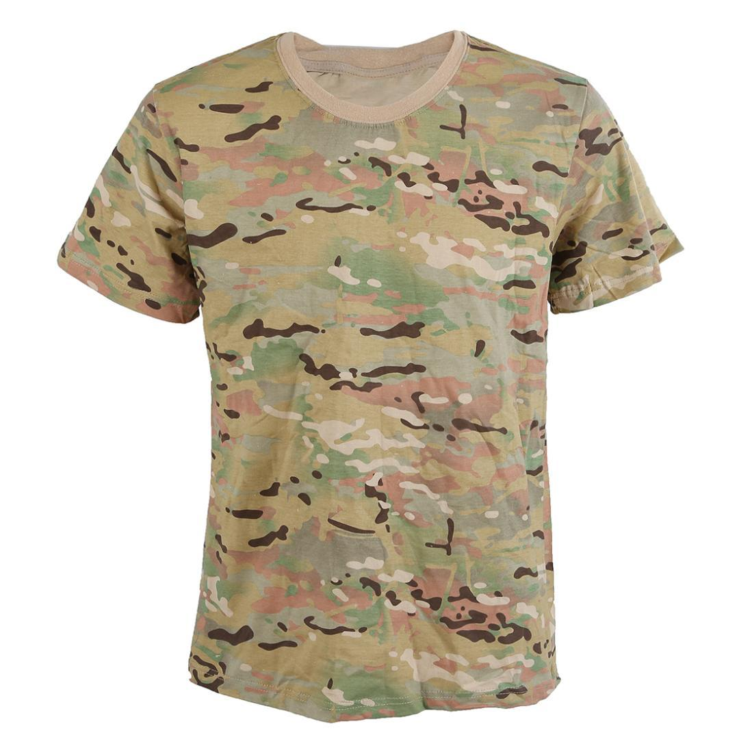 SYB Summer T-shirt Hombres Transpirable Ejército T actical Combat Camiseta Dry Camo Camp Tees CP CamuflajeNuevo Casual