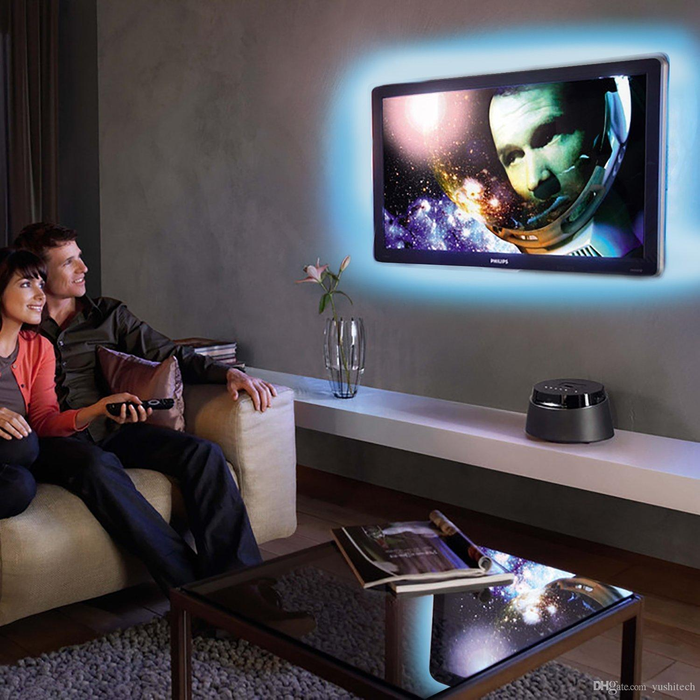 USB 5V RGB LED Streifen 5050 Neonbeleuchtung TV Hintergrundbeleuchtung 5V USB Powered 3Key Mini Controller für HDTV, Flachbildschirm TV Zubehör Mehrere Farben