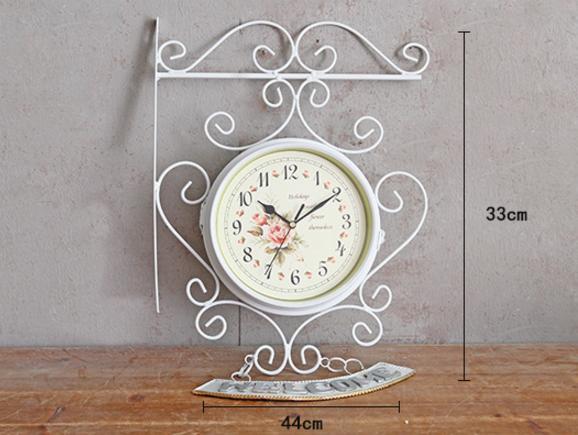Acheter Horloge Murale Européenne Blanc Fer Moderne Horloge Murale