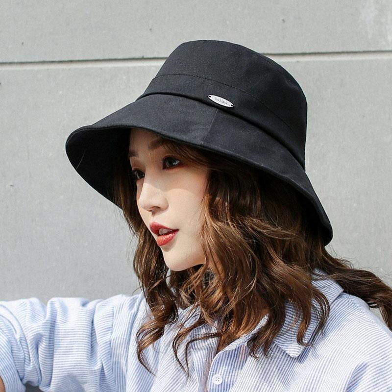 4e1024464 Compre Sombreros De Verano Para Mujer Sombrero Para El Sol Sombrero De  Playa Para Mujer Sombrero De Pescador Gorro Ancho Chapeu Feminino Plegable  es ...