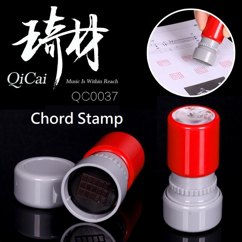 2018 Qicai Qc0037 Guitar Chord Rubber Stamp Easy To Use For Acoustic