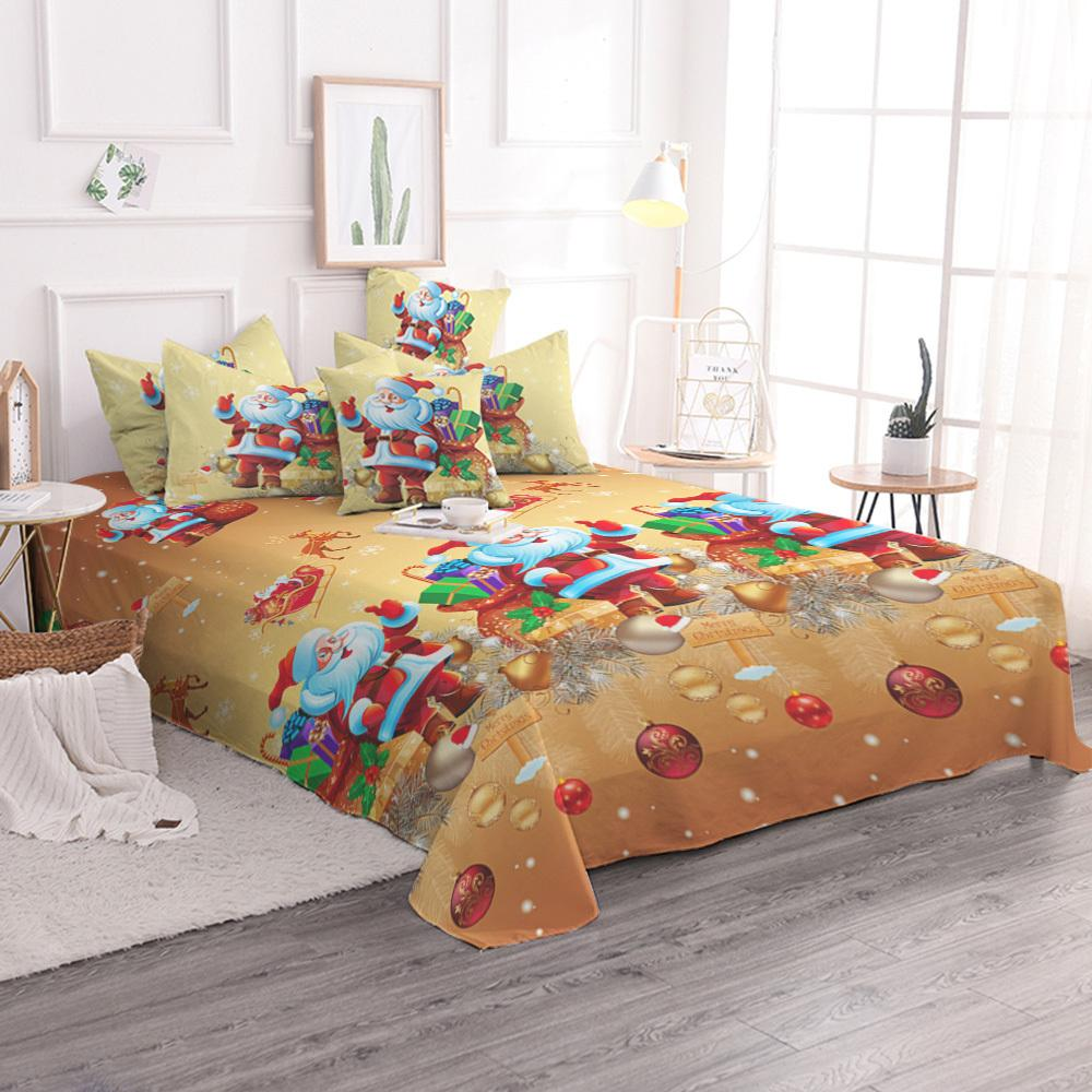 Christmas Bedding Set Santa Claus Cartoon Bed Duvet Cover Animal For ...