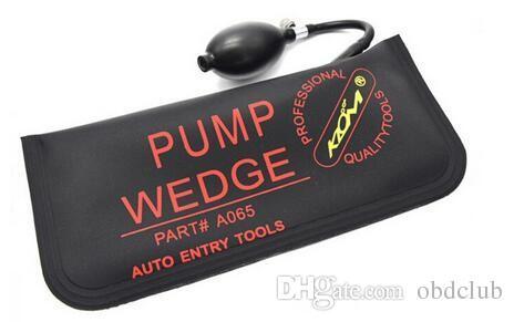100% Original Klom Locksmith 2016 Black PUMP WEDGE LOCKSMITH TOOLS Auto Air Wedge Lock Pick Open Car Door Lock Big Size 28*12CM